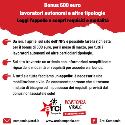 bonus 600 euro lavoratori autonomi e professionisti come fare