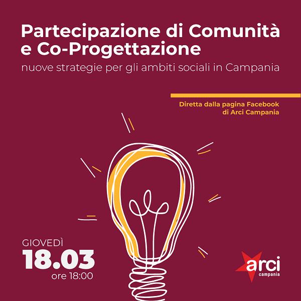 Partecipazione di Comunità e Co-Progettazione, diretta online