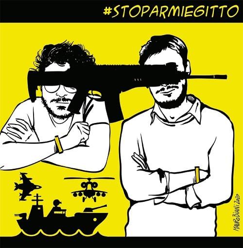 Stop armi Egitto: 19 dicembre mobilitazione nazionale per Giulio e Patrick
