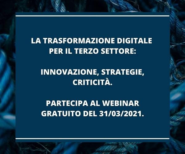 La trasformazione digitale per il Terzo Settore - webinar gratuito