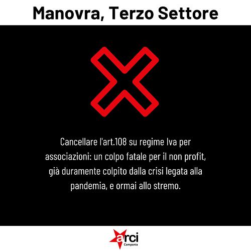 Manovra, Terzo Settore cancellare l'art.108 su regime Iva per associazioni no profit