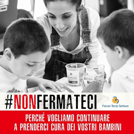 #nonfermateci cura bambini