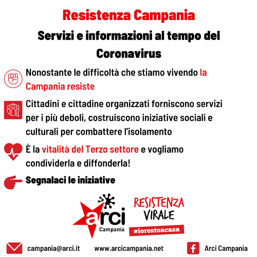 Resistenza Campania: servizi e informazioni al tempo del Coronavirus