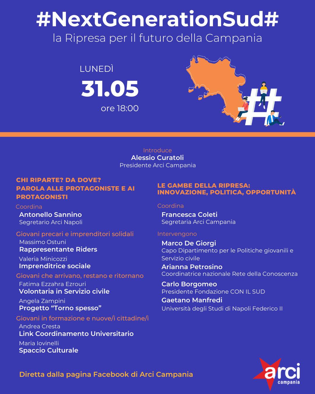 #NextGenerationSud# - La Ripresa per il futuro della Campania